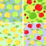 Tapete mit bunten Äpfeln Stockfotografie