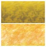 Tapete mit zwei Sonnen Gold Lizenzfreies Stockbild