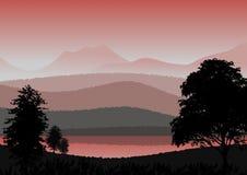 Tapete oder Hintergrund mit Naturlandschaft lizenzfreie stockfotos