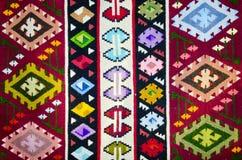 Tapete romeno tradicional velho de lãs Foto de Stock