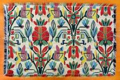 Tapete tecido marroquino do artesanato Imagens de Stock Royalty Free