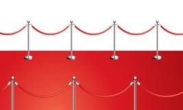 Tapete vermelho Foto de Stock