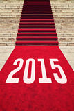 Tapete vermelho com número 2015 Fotos de Stock