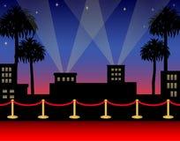 Tapete vermelho de Hollywood ilustração stock