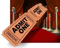 Tapete vermelho de noite de filme Imagem de Stock Royalty Free