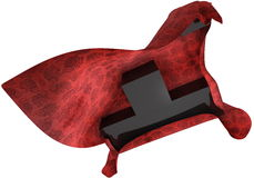 Tapete vermelho em cubos pretos Fotos de Stock Royalty Free