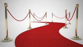 Tapete vermelho encaracolado Fotos de Stock