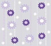 Tapetenauslegung mit Blumen Stockfotografie