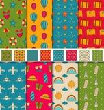 Tapeter eller bakgrunder för samling färgrika sömlösa Arkivfoton