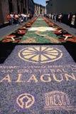 Tapetes da flor do Corpus Christi, La Laguna, Tenerife, Ilhas Canárias, Espanha Foto de Stock