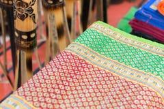 Tapetes feitos a mão da juta, artesanatos indianos justos em Kolkata Foto de Stock