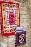 Tapetes feitos a mão orientais bonitos do vintage colorido Imagem de Stock