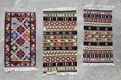 Tapetes romenos tradicionais velhos de lãs Foto de Stock Royalty Free