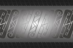 Tapetinbjudankort med Batik Shape Royaltyfria Bilder