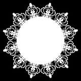 Tapetito blanco del cordón ilustración del vector