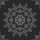 Tapetito del cordón, mandala, ornamento redondo Imagen de archivo libre de regalías