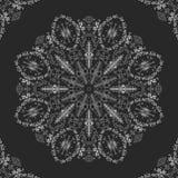 Tapetito del cordón, mandala, ornamento redondo Imagen de archivo