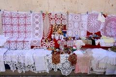 Tapetitos hechos en casa del ganchito Foto de archivo libre de regalías