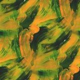 Tapetowego obrazka stylu bezszwowa zieleń, kolor żółty ilustracja wektor
