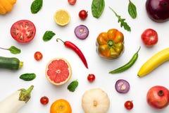 Tapetowy abstrakcjonistyczny skład owoc i warzywo obraz stock