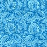 Tapetowy bezszwowy wzór z abstrakcjonistycznym kwiecistym elementem royalty ilustracja