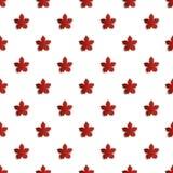 Tapetowy bezszwowy wzór z liściem klonowym - wektorowa ilustracja Obraz Stock