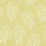 Tapetowy bezszwowy wzór z narcyzem w flowerpot robić s ilustracji