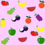 Tapetowy bezszwowy wzór z owoc - wektorowa ilustracja Zdjęcie Royalty Free