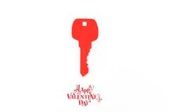 Tapetuje cięcie klucz dla serca jako symbol miłość Obrazy Stock