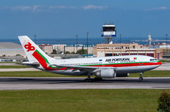TAPEZ Air Portugal Airbus A310 Photos stock