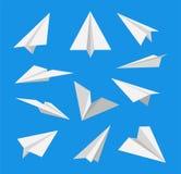Tapezieren Sie Flugzeug Set Ikonen Vektor stock abbildung