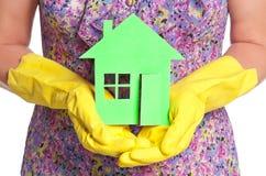 Tapezieren Sie Haus Stockfoto