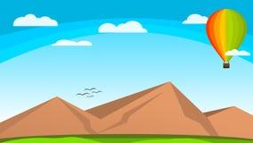 Tapezieren Sie Natur-Vektor-Luft-Ballon Colorfull über dem Himmel stockfotografie