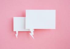 Tapezieren Sie Spracheluftblasen Stockfotos