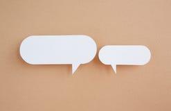 Tapezieren Sie Spracheluftblasen Stockbild