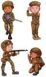 Tapfere Soldaten stock abbildung