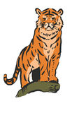 Tapferer Tiger Stockfoto