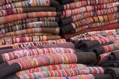 Tapicería andina tradicional Fotografía de archivo libre de regalías