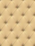 Tapicería de cuero amarillenta Imagen de archivo libre de regalías