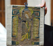 Tapicería del siglo XV Fotografía de archivo libre de regalías