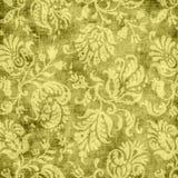 Tapicería floral amarilla de la vendimia fotos de archivo