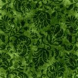 Tapicería floral verde de la vendimia stock de ilustración