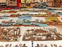 Tapicería multicolor árabe tradicional Imagen de archivo libre de regalías
