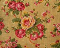 Tapicería retra con las rosas Imagen de archivo
