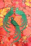 Tapicerías en el mercado del arte de Chichicastenango Fotografía de archivo