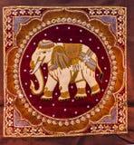 Tapicerías tailandesas del elefante a mano Imagen de archivo