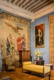 Tapicería de Francia del castillo de Chambord Fotografía de archivo