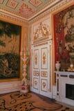 Tapicería en interior del oro Imagen de archivo