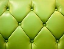 Tapicería verde del cuero genuino Imagen de archivo libre de regalías