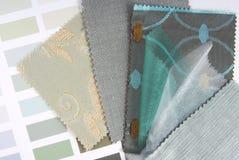 Tapicerowanie zasłony i makaty koloru wybór Zdjęcia Royalty Free